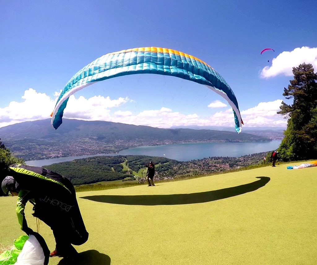 video decollage parapente annecy