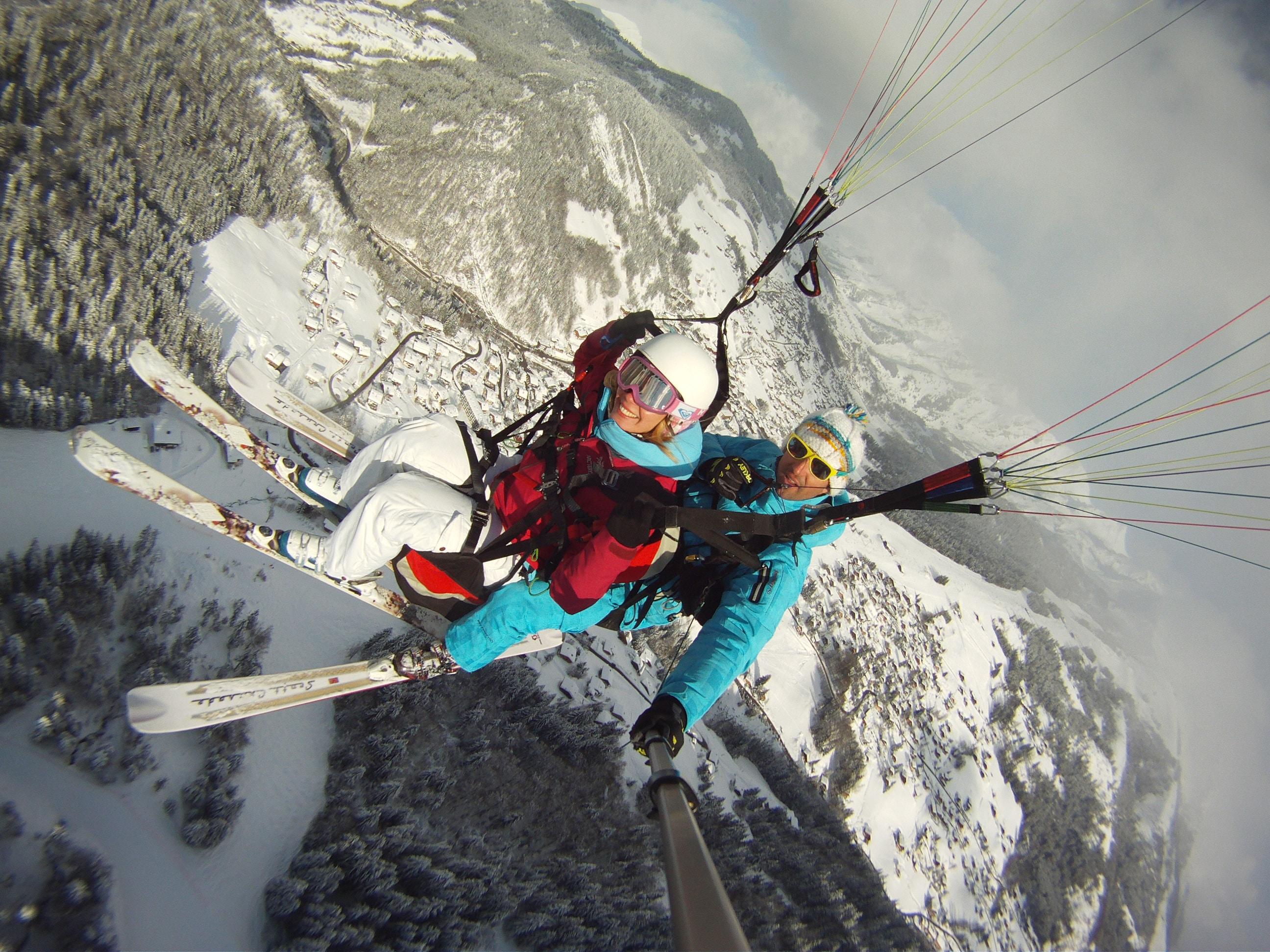 Ski - parapente La clusaz