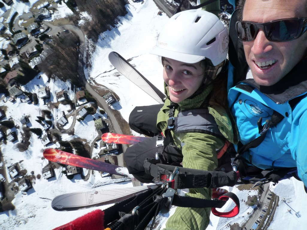 ski parapente clusaz