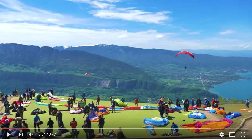 video decollage bapteme parapente
