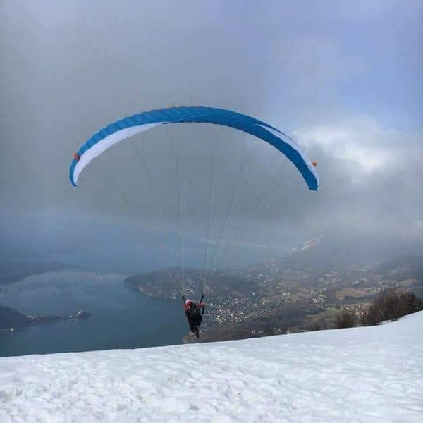 ski parapente annecy hiver
