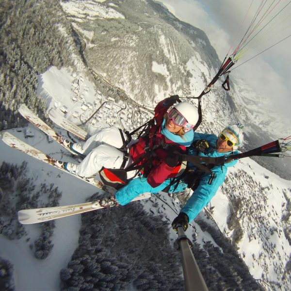 Baptême parapente ski