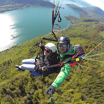 Paragliding tandem flight Annecy
